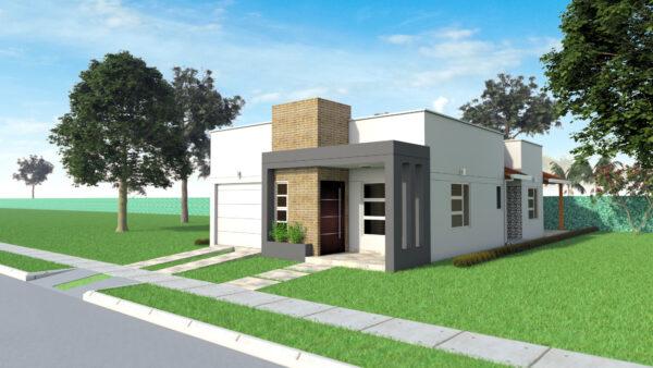 diseño de casa moderna pequeña