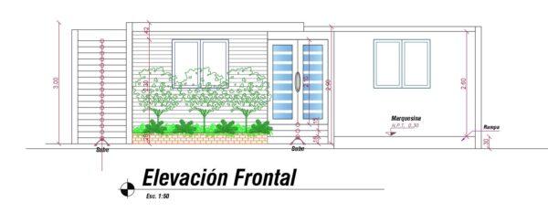 Plano de vivienda moderna