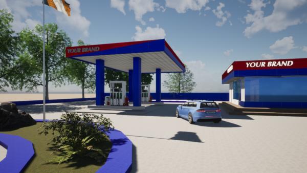 planos de estación de combustible