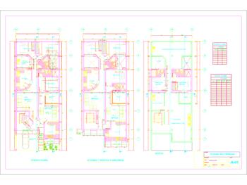 Planos de viviendas multifamiliares de 4 pisos
