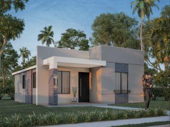 Diseño de casa pequeña y bonita 7x9