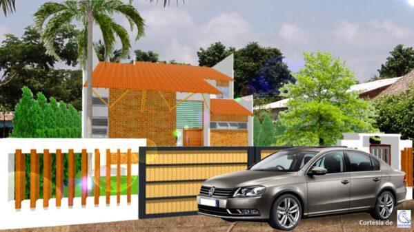 Planos Casa campestre minimalista 14x18