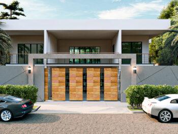 Diseño de Residencia moderna de 2 niveles