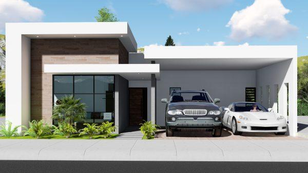 Casa moderna de un piso 11x15