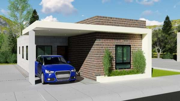 Planos de casa 7x15 con garaje