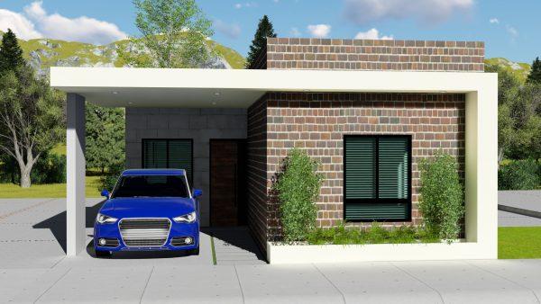 Planos de casa 7 x 15 de un piso con cochera