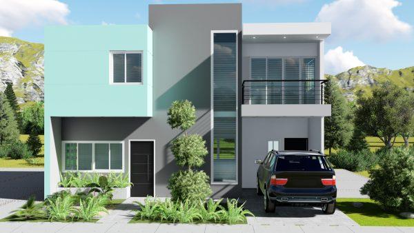 Casa de dos niveles 10x10