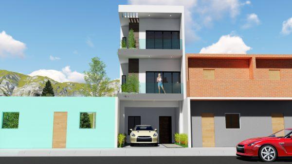 angosta planos de casas de 4 metros de ancho por 15 de largo