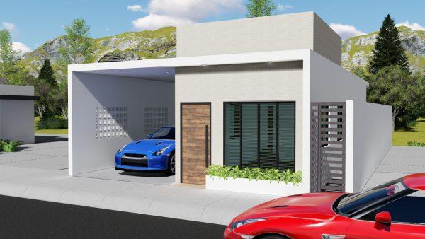 Diseño de casa 7x15 3 dormitorios