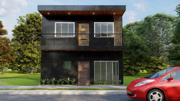 plano de casa 6x6 en 3d